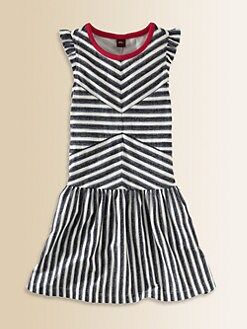 Tea Collection - Toddler's & Little Girl's Zebra Stripe Dress