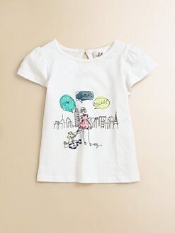 Milly Minis - Toddler's & Little Girl's Flutter-Sleeve Tee