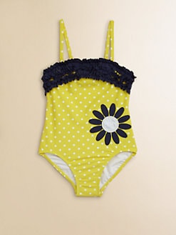 Hartstrings - Toddler's & Little Girl's One-Piece Polka Dot Swimsuit