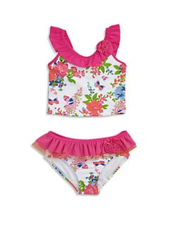 Hartstrings - Toddler's & Little Girl's Two-Piece Ruffled Floral Swimsuit