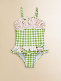Hartstrings - Toddler's & Little Girl's One-Piece Check Swimsuit