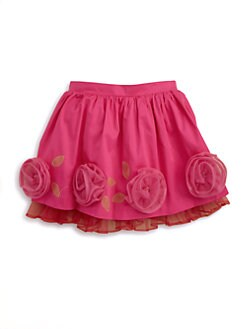 Hartstrings - Toddler's & Little Girl's Floral Sateen Twill Skirt