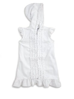 Hartstrings - Toddler's & Little Girl's Ruffled Terry Coverup Dress
