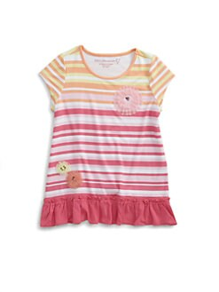 Design History - Toddler's & Little Girl's Striped Floral Tunic
