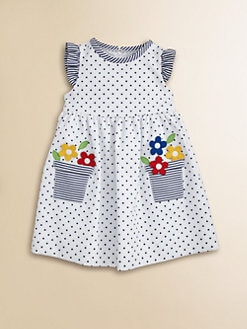 Florence Eiseman - Toddler's Dotted Flower Pot Dress