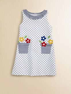 Florence Eiseman - Little Girl's Dotted Flower Pot Dress