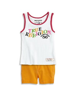 True Religion - Toddler's & Little Girl's Ringer TR 56 Tank Top