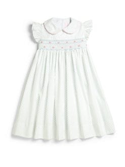 Anavini - Little Girl's Smocked Floral Dress & Bloomers Set