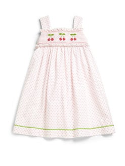 Anavini - Toddler's & Little Girl's Polka Dot Cherries Dress
