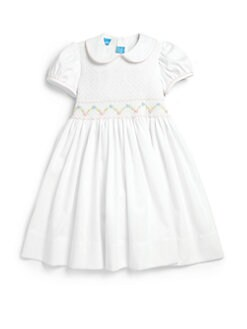 Anavini - Toddler's & Little Girl's Smocked Piqué Dress