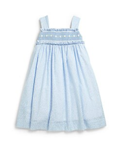 Anavini - Toddler's & Little Girl's Smocked Daisy Dress