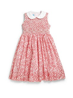 Anavini - Toddler's & Little Girl's Smocked Floral Dress
