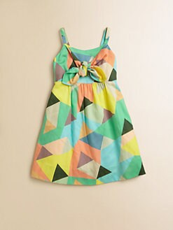 Milly Minis - Toddler's & Little Girl's Mosiac Print Tie Dress