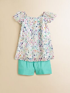 Milly Minis - Toddler's & Little Girl's Gathered Confetti Top