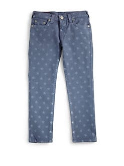 True Religion - Toddler's & Little Girl's Casey Star Print Denim Leggings/Royal Blue