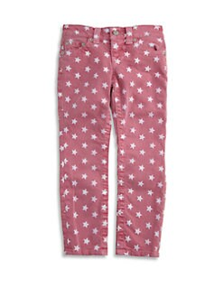 True Religion - Toddler's & Little Girl's Casey Star Print Denim Leggings/Fuchsia