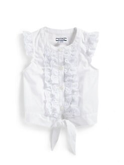 Hartstrings - Toddler's & Little Girl's Poplin Flutter Sleeve Blouse