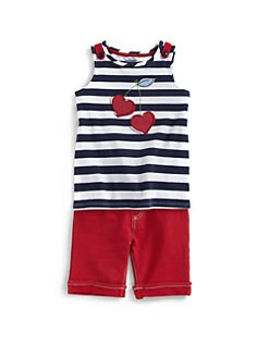 Hartstrings - Toddler's & Little Girl's Striped Heart Top