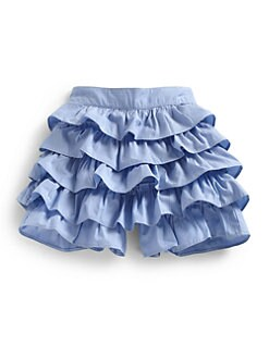Hartstrings - Toddler's & Little Girl's Chambray Ruffled Shorts