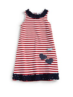 Hartstrings - Toddler's & Little Girl's Striped Ruffle Dress