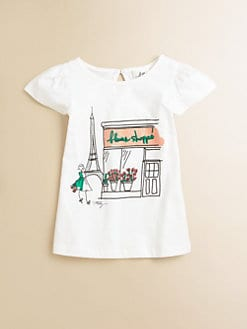 Milly Minis - Toddler's & Little Girl's Eiffel Tower Tee