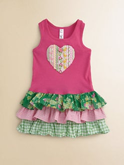 Love U Lots - Toddler's & Little Girl's Heart Appliqu&#233; Dress