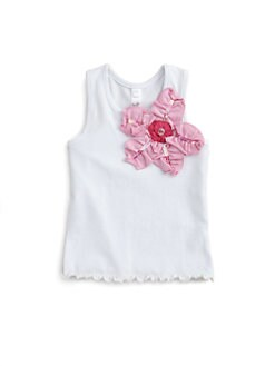 Love U Lots - Toddler's & Little Girl's Flower Tank