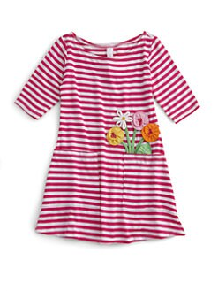 Love U Lots - Toddler's & Little Girl's Pocket-Full-of-Posies Dress