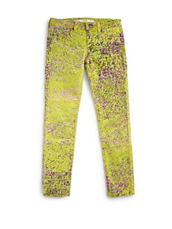 Joe's - Toddler's & Little Girl's Floral-Print Denim Leggings