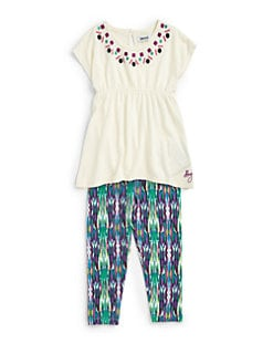 DKNY - Toddler's & Little Girl's Two-Piece Calypso Tunic & Leggings Set