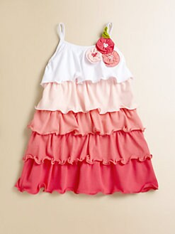 Love U Lots - Toddler's & Little Girl's Multicolor Ruffle Dress