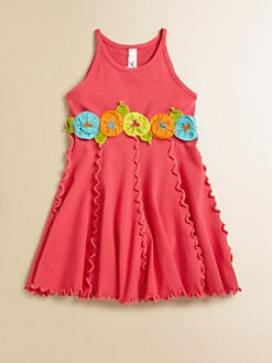 Love U Lots - Toddler's & Little Girl's Paneled Flower Dress