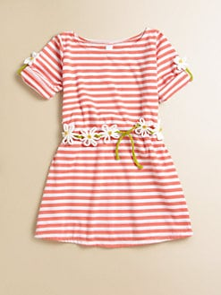 Love U Lots - Toddler's & Little Girl's Striped Daisy Chain Dress