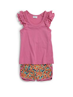 Splendid - Toddler's & Little Girl's Two-Piece Ruffled Tee & Floral Shorts Set