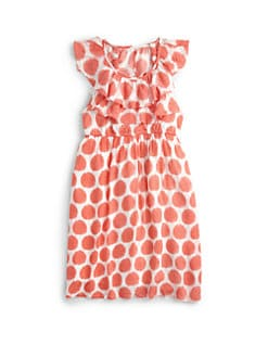 DKNY - Toddler's & Little Girl's Ruffled Dot Dress
