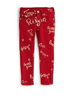True Religion - Toddler's & Little Girl's Graffiti Skinny Pants