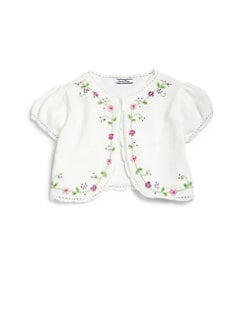 Hartstrings - Toddler's & Little Girl's Embroidered Shrug