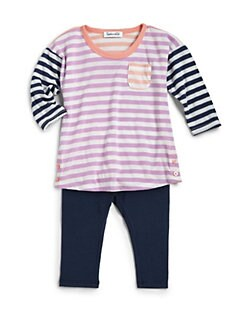 Splendid - Toddler's & Little Girl's Striped Tunic & Leggings Set