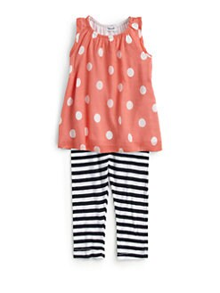 Splendid - Toddler's & Little Girl's Two-Piece Polka Dot Tunic & Leggings Set