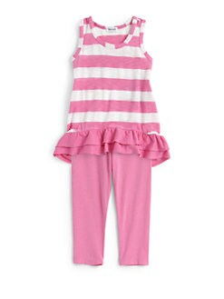 Splendid - Toddler's & Little Girl's Two-Piece Striped Tank Tunic & Leggings Set
