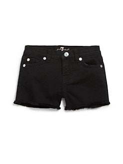 7 For All Mankind - Toddler's & Little Girl's Cutoff Denim Shorts