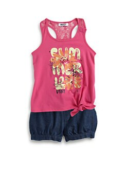 DKNY - Toddler's & Little Girl's Summer Love Two-Piece Tank Top & Shorts Set