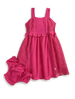 DKNY - Toddler's & Little Girl's Sunny Day Dress & Bloomers Set