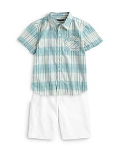 DKNY - Toddler's & Little Boy's Tribeca Plaid Shirt