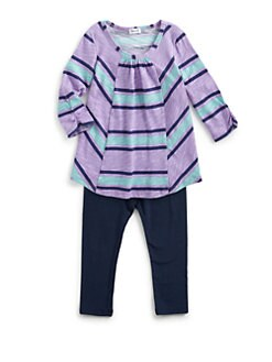 Splendid - Toddler's & Little Girl's Two-Piece Santorini Striped Tunic & Leggings Set