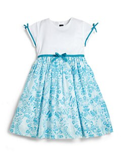 Oscar de la Renta - Toddler's & Little Girl's Woodcut Floral Whitehouse Dress