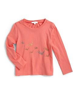 Chloe - Toddler's & Little Girl's Bird Print Tee