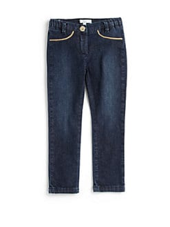 Chloe - Toddler's & Little Girl's Piped Stretch Jeggings