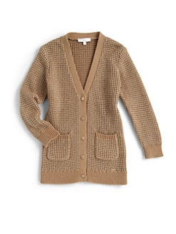 Chloe - Toddler's & Little Girl's Metallic Threads Knit Cardigan