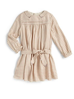 Chloe - Toddler's & Little Girl's Studded Twill Dress